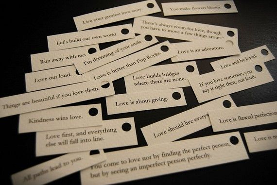 romantic sayings: perfect for fortune cookie type favors