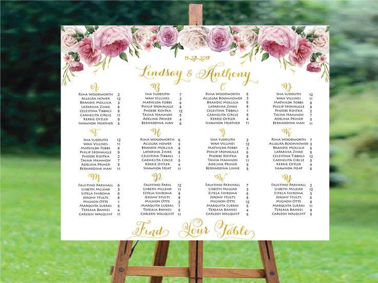 Wedding Seating Chart Alphabetical ,Wedding Seating Chart Printable, Wedding Seat, Wedding Seating Board,Alphabetical Wedding Seating Chart by designinvitationsbk on Etsy