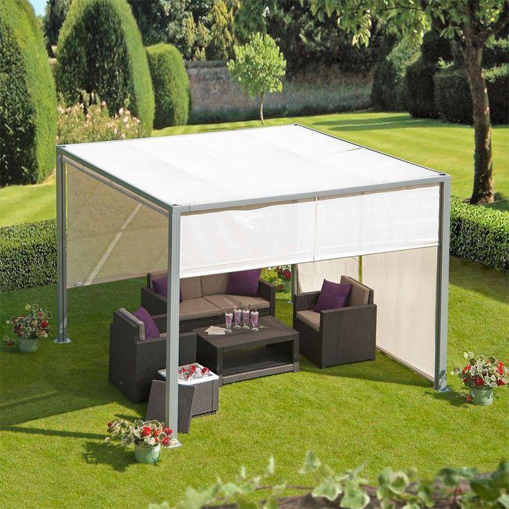 soho 3m aluminium gazebo with adjustable panels garden. Black Bedroom Furniture Sets. Home Design Ideas