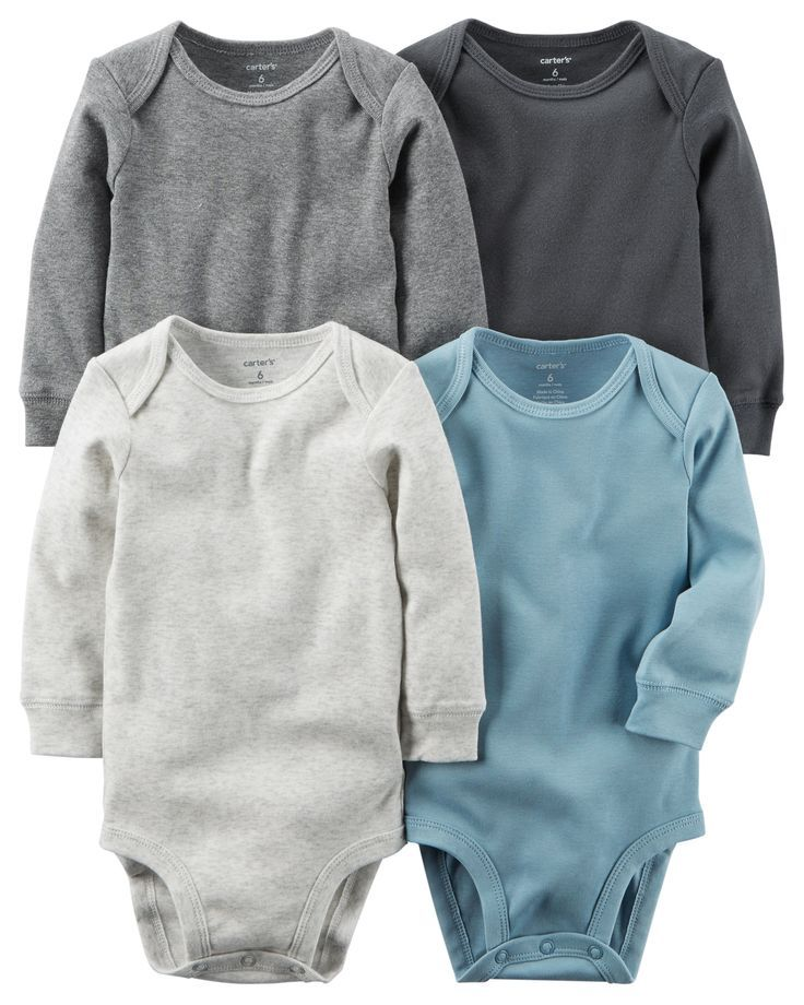 4-Pack Long-Sleeve Original Bodysuits from Carters.com. Shop clothing & accessories from a trusted name in kids, toddlers, and baby clothes.