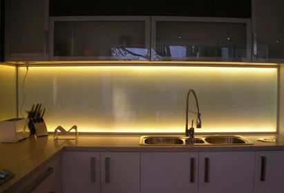 Illuminated Kitchen Splashbacks