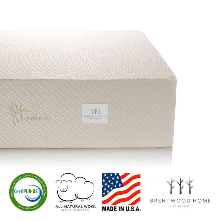Bwood Home Gel Hd Memory Foam Mattress Natural Wool Sleep Surface And Bamboo Cover Queen The Infused