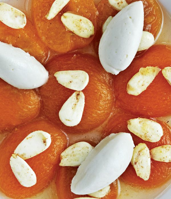 Almonds are actually a stone fruit and therefore pair nicely with other stone fruits - in this case apricots. - Phil Howard