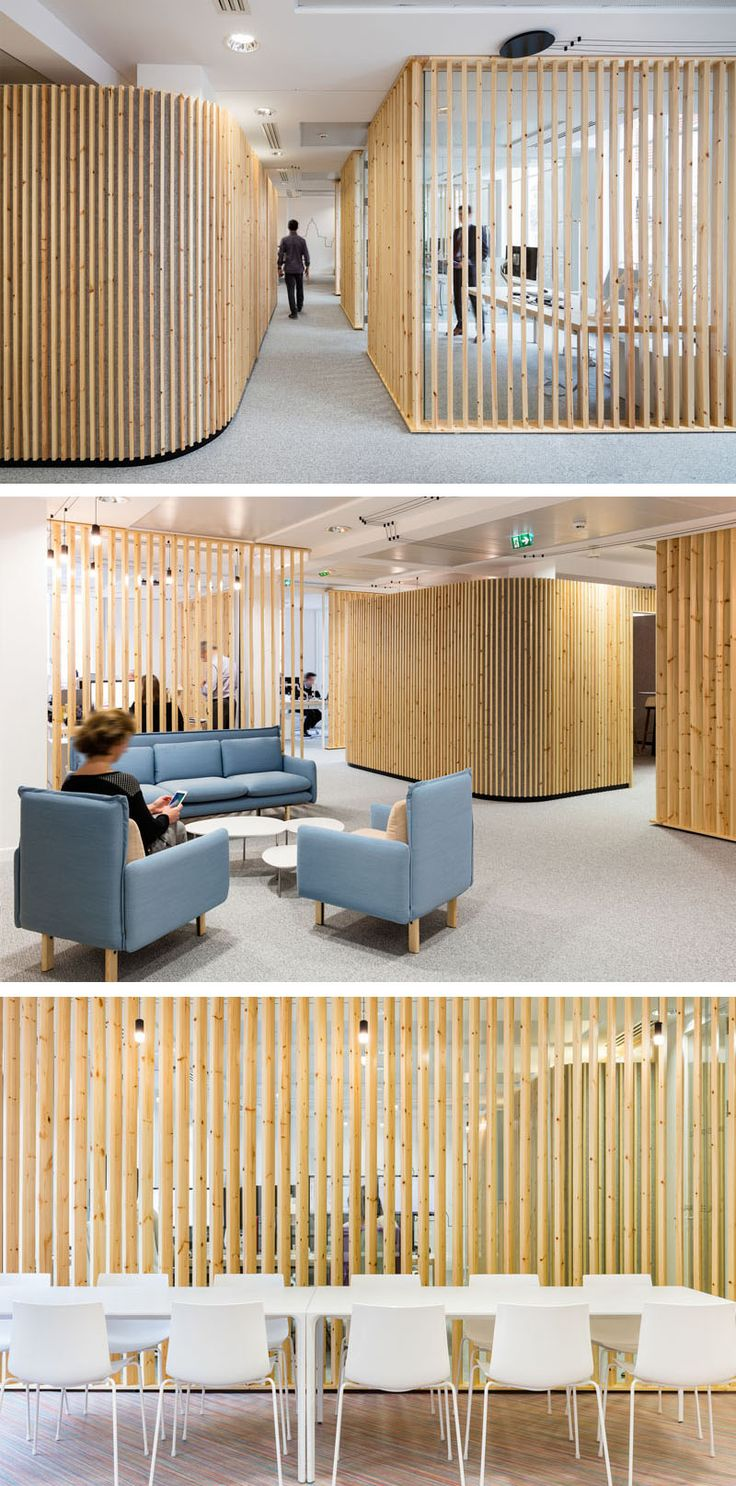 creating office space. How To Make A Design Impact Using Simple Pieces Of Wood // For This Office Space Studio Razavi Architecture Used Basic Pine Lumber Installed Vertically Creating R