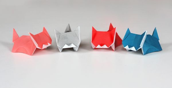 Aw. Origami kittens.