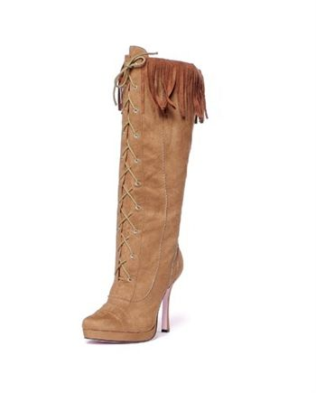 "Description		   		 	 4.5"" Microfiber knee high lace up boot with .75 platform and inner zipper."