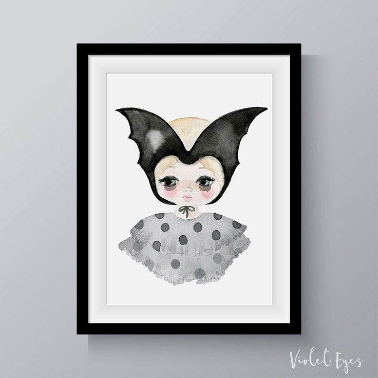 The Violet Eyes Bat Girl print has the perfect mix of quirky and cool. Made in Australia this print collection has been made for children's interiors and is perfect for girls and boys nursery and bedroom walls. Printed on textured high quality paper this artwork print features the flying fox bat native to Australia. Shop this look at www.violeteyes.com.au/products/bat-girl. Explore our home decor prints for kids at www.violeteyes.com.au