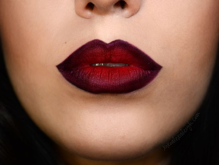 Ombré lip for second look - can be done with colours to compliment her tone and can be done subtly