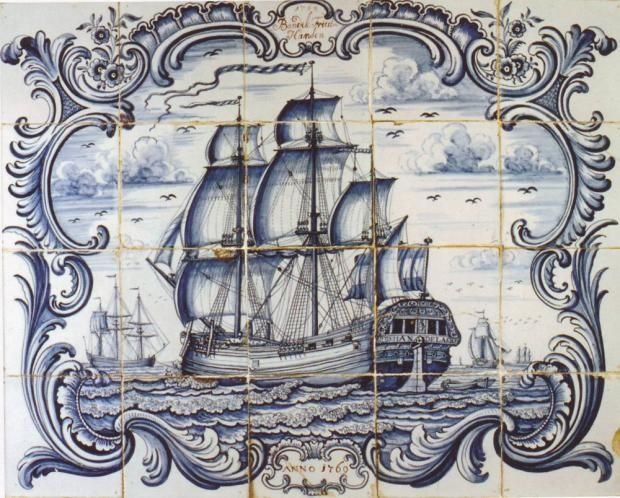 Ship panels - Panels - Showcase antique tiles - Catalogue - Dutch Delft Tiles