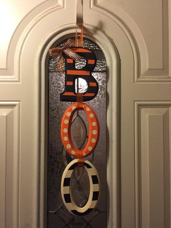 Boo Door Hanger Halloween Door Hanger by DecorByMel on Etsy