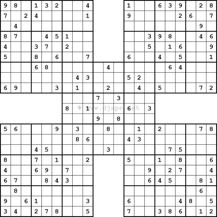 picture regarding Printable Sudoku Samurai known as Sudoku Samurai obtain for home windows 8.1 64little bit no cost model