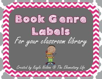 Free labels for your classroom library in pink chevron and black and white chevron! There are over 20 labels included. There is also a blank one for your use if you'd like to add some different categories. If you'd like a different color, please rate this product and leave a comment with the color you'd like! :) Thank you for stopping by!!