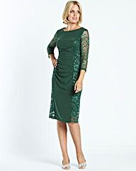 Lace Panel Dress My Green Dress