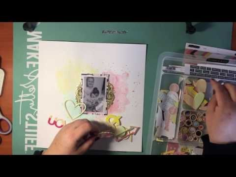 Kitaholic Kits - July - Scrapbooking Process video with Corrine