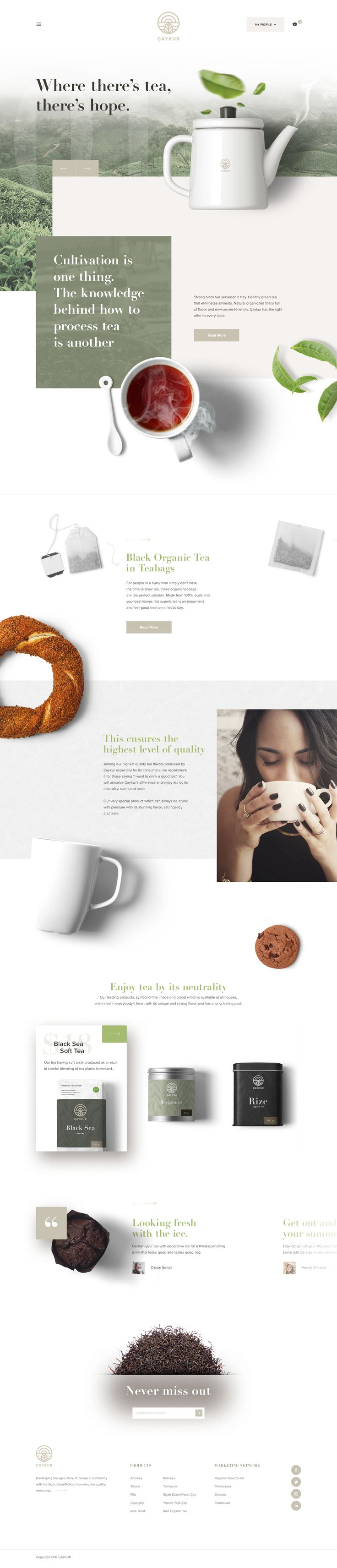 Caykur homepage