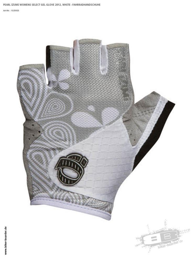 Womens Select Gel Glove 2012, White - Fahrradhandschuhe
