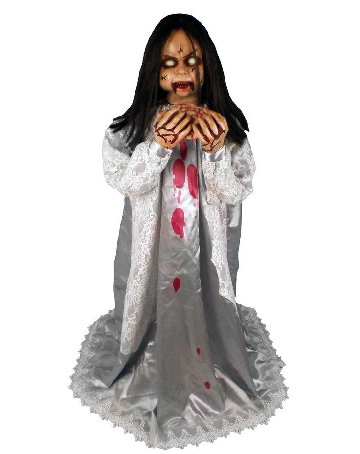 rosemary zombie girl animated prop spirit halloweenhaunted - Spirit Halloween Props