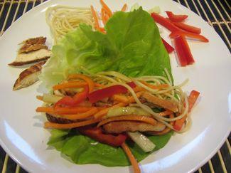 Asian Chicken Lettuce Wraps  www.eats.macaronikid.com