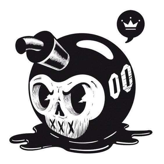 Skull Bomb By Png Designs ☠️ Graffiti Art Skull Art