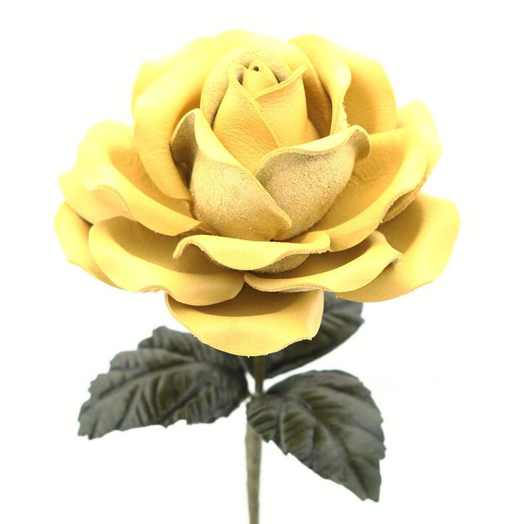 This realistic handmade lemon yellow leather rose will make a perfect 3rd wedding anniversary (traditional) or 9th wedding anniversary (modern) gift. Leather rose is about 4.25 inches across and 18 in