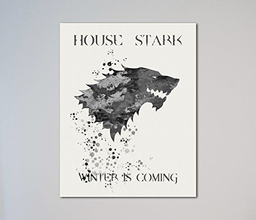 Game of Thrones House Stark Sigil Winter is Coming 11 x 14 inches Print