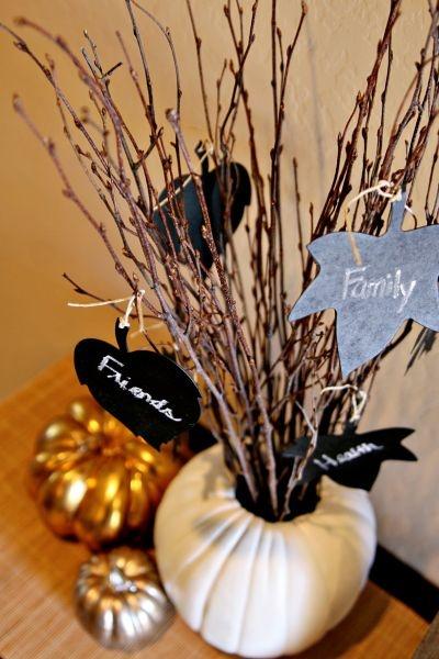 Tutorial: thankful tree  #thanksgiving #fall #autumn #holidays #diy #crafts