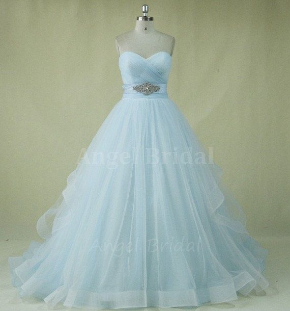Light blue wedding dress images for Light blue and white wedding dresses
