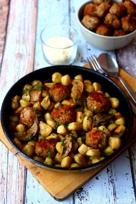 Gnocchi céleri, boulettes parmesan