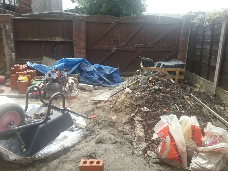 Early days of child friendly play safe garden conversion project