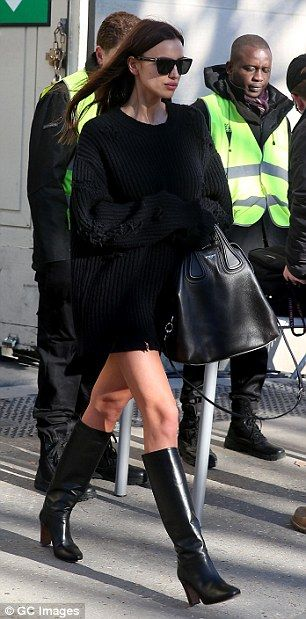 Irina Shayk makes a late arrival in Paris as she joins veteran Angel Alessandra Ambrosioahead of her first Victoria's Secret show