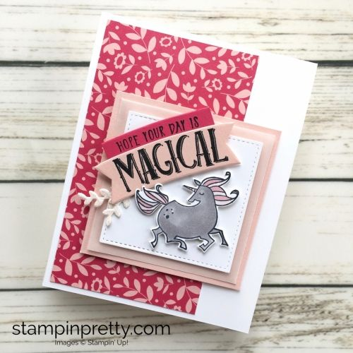 Learn how to create a simple birthday card using Stampin Up Magical Day & Magical Mates - Mary Fish StampinUp Ideas