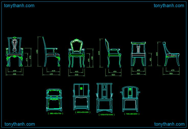 King chair queen dwg block decorarting for