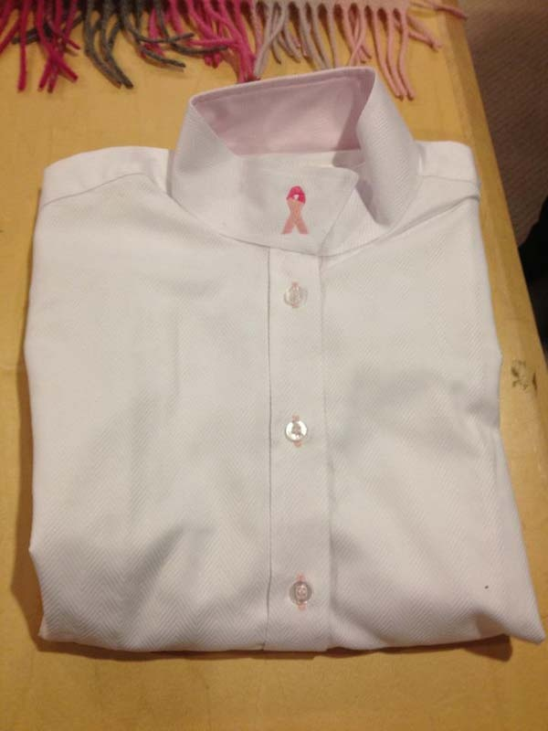 For the Cure, snap collar show shirt - $150