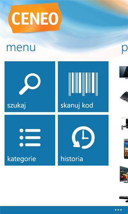 Aplikacja Ceneo na WP 7