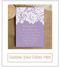 mauve purple lace vintage wedding invitation cards for 2015 trends EWI335
