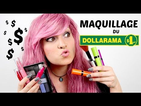 MAQUILLAGE DU DOLLARAMA 1$ - YouTube