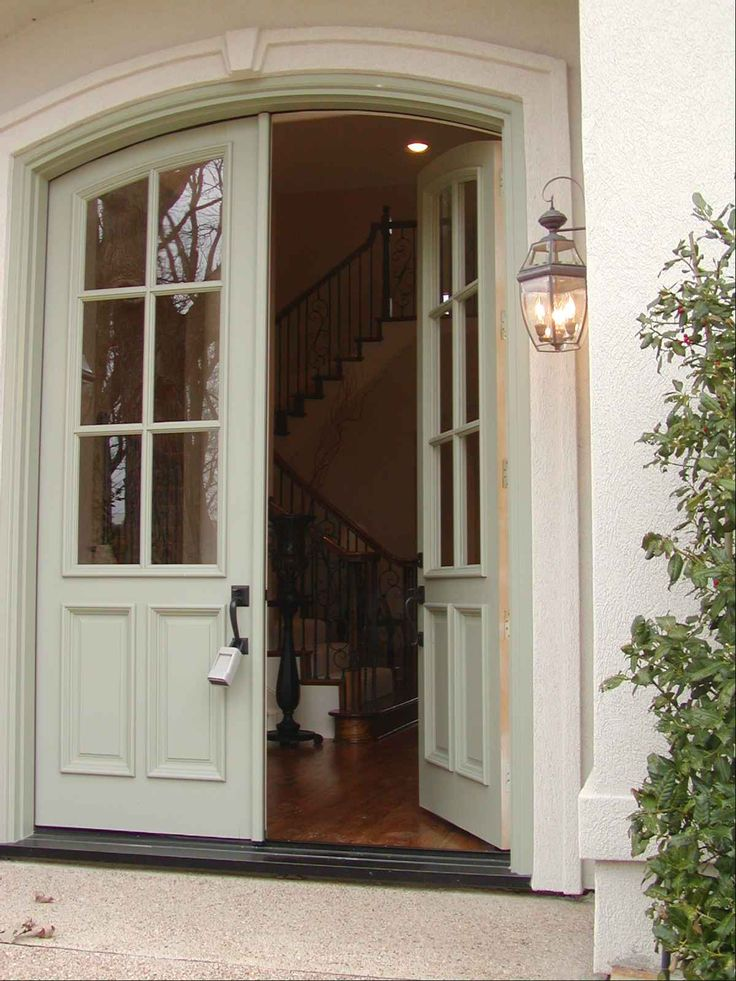 French colonial entry love the double door entry - Interior storm windows for old houses ...