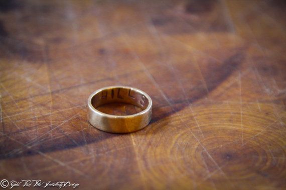 Personalised Brass Fashion Ring by GoldPanPete on Etsy, $34.99