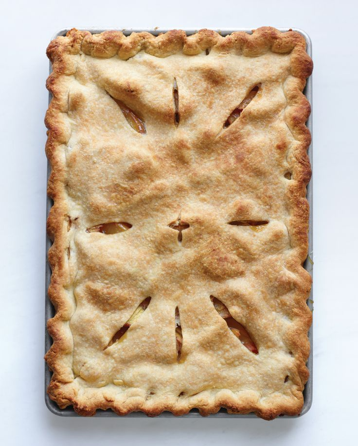 Peach Slab Pie Recipe | Martha Stewart