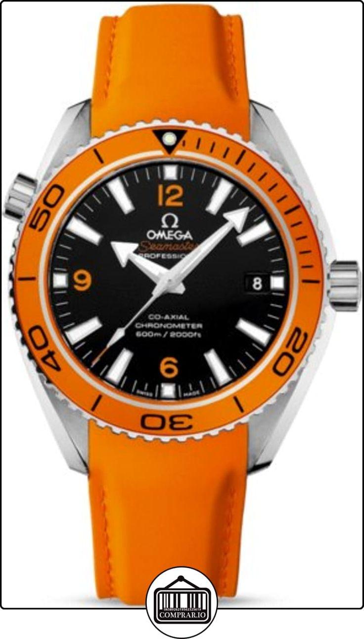 Omega Seamaster Planeta Océano Automático Negro Dial Naranja Goma Mens Reloj 23232422101001  ✿ Relojes para hombre - (Lujo) ✿