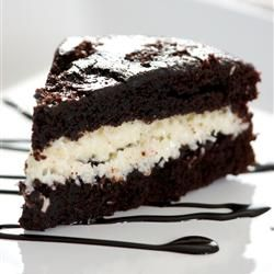 Coconut Chocolate Cake - It is Mounds in cake form. Add some almonds and or almond extract and you have an Almond Joy in cake.