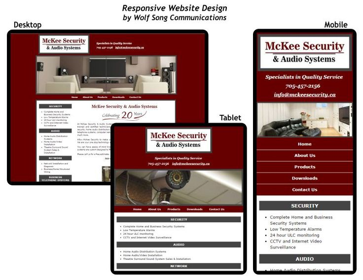 "A responsive website is a beautiful thing! It ""magically"" adjusts its layout and font/image sizes depending on the device it is being viewed on. Check out the McKee Security website on all your devices!"