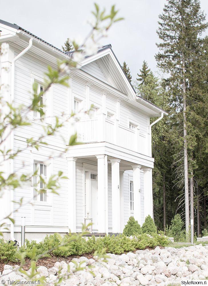 piha,talo,omakotitalo,valkoinen