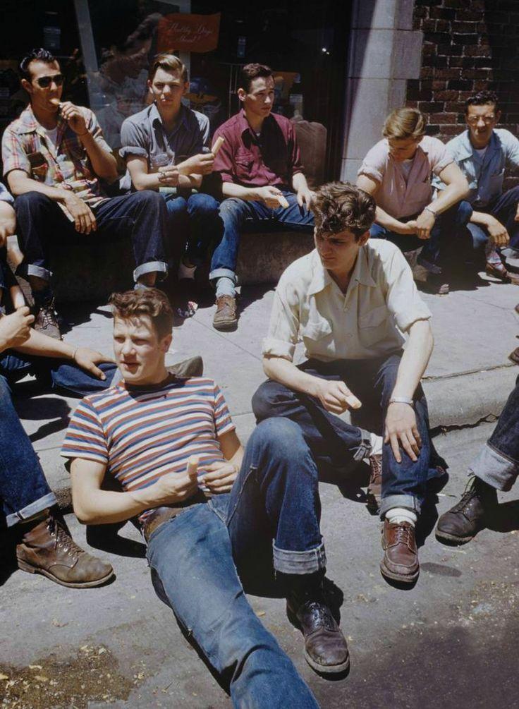 Boys on the walk, 1950 #ShotglassMemories #MoodBoard