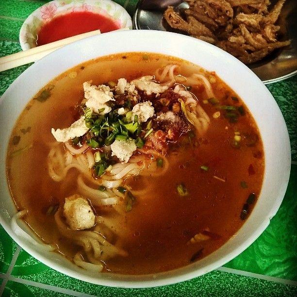 Shan noodles soup.    #Myanmar #hsipaw #foodgoodies #noodlesoup
