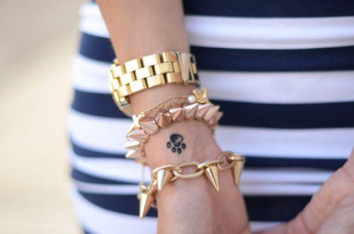 <3Paw Tattoo, Fashion Details, Ankle Tattoo, New Fashion, A Tattoo, Tattoo Design, Paw Prints, Arm Candies, Arm Parties