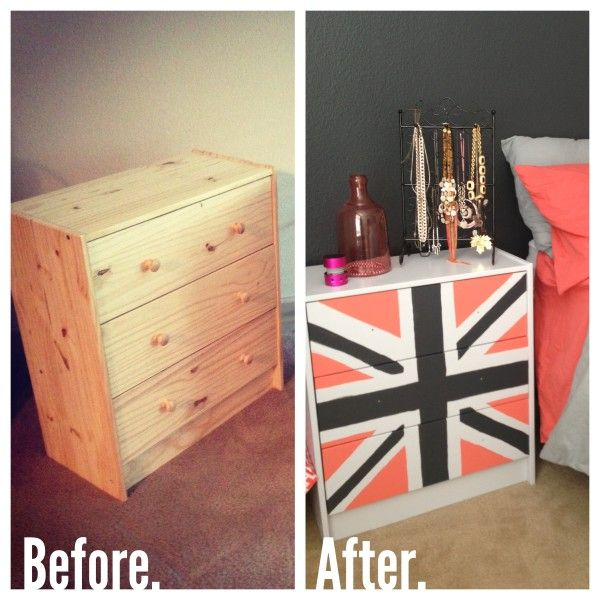 Angie at Home: My DIY Union Jack Nightstand
