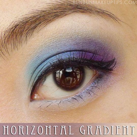 Eyeshadow Tutorials for Asian Eyes - Part 5: Horizontal Gradient Method