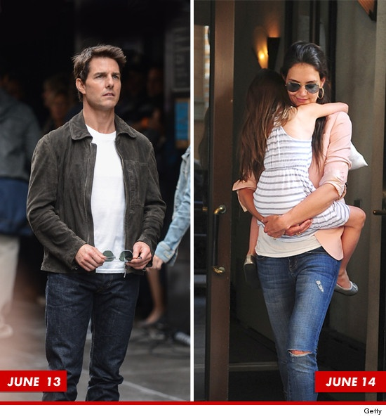 Tom Cruise & Katie Holmes -- Sleeping Apart in Weeks Leading Up to Divorce