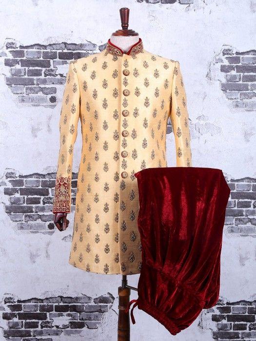 Golden Silk Wedding Wear Indo Western